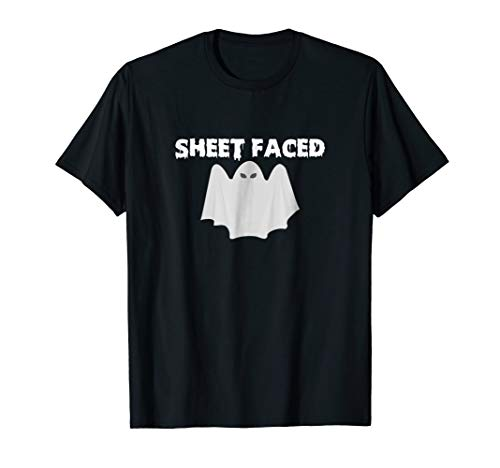 Funny SHEET FACED Ghost Punny Halloween -