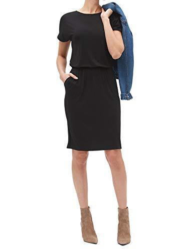 Banana Republic Womens Rayon Blend Cap Sleeve T-Shirt Shift Dress Black (XX-Large)