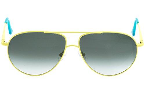 mit Grau Rahmen Lunettes taille soleil Gelb Gläser unique de Grünstich Lime Verlauf Homme FUNK xqwAv7w