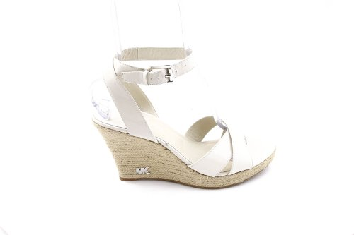 Michael Kors Women's Kami Ankle Strap Wedge Sandals in Vanilla Size 10