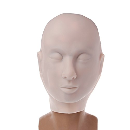 Zobeen Tattoo Practice Mannequin Head Face Skin 3D Masks for Permanent Eyelashes Makeup -