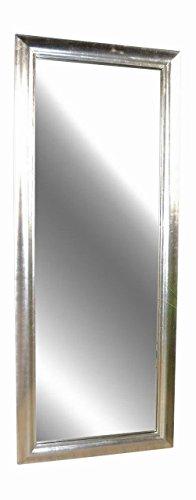 Livitat SX1281-S Wand-/ Badspiegel, 150 x 60 cm, Holz, silber