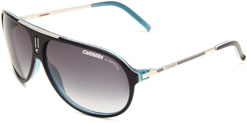 Carrera Hot/S Aviator Sunglasses,Royal Blue & Palladium Frame/Grey Gradient Lens,One Size