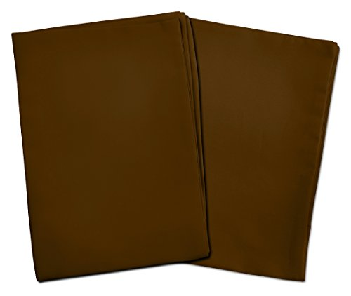 2 Dark Brown Toddler Pillowcases – Envelope Style – for Pillows Sized 13×18 and 14×19-100% Cotton with Sateen Weave…