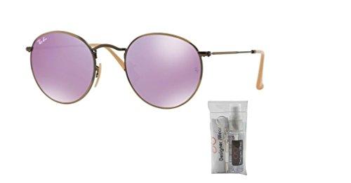 Ban Rb3447 Metal Round Demiglos Sunglasses Mirror lillac Brusched Ray Bronze SUqxavU