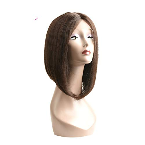 pursuit-of-self Black Women Short Hair Wigs Lace Part Bob Brazilian Hair Wigs,12inches,#2 from pursuit-of-self