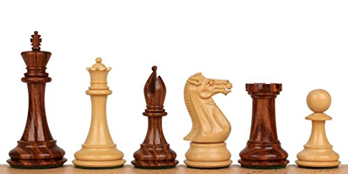 Chess Staunton Pieces Double Weighted (Staunton Chess Set with Acacia & Boxwood Pieces- 4