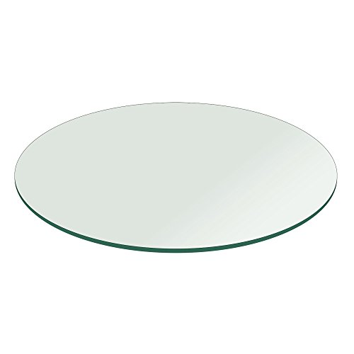48'' Inch Round Glass Table Top 1/4'' Thick Flat Polish Edge Tempered by Fab Glass and Mirror by Fab Glass and Mirror