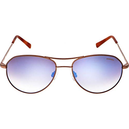 Randolph Engineering Thaden Sunglasses Chocolate Gold Satin/Nylon Oasis Metallic AR 54mm (Randolph Engineering Case)