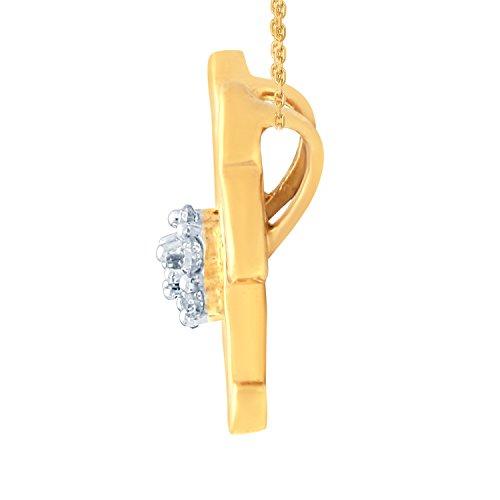 Giantti 14carats Diamant Pendentif Femme Collier (0.0992CT, VS/Si-clarity, Gh-colour)