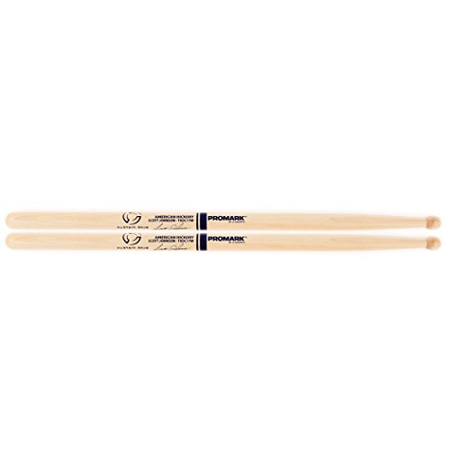 Promark American Hickory TXDC17W Scott Johnson Marching Drumsticks ()