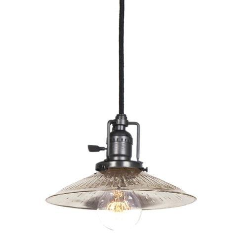 JVI Designs 1200-18-S1-SR Union Square 1 Light Mini Pendant with Antique Mercury