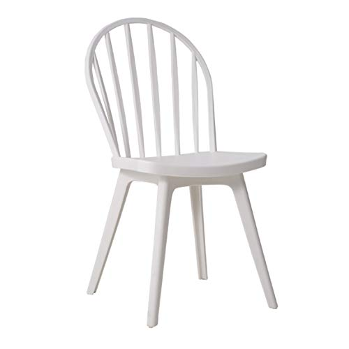 (ZHPRZD Barstools Nordic Modern Leisure Dining Chair Creative Plastic Chair Back Living Room Ins Home Windsor Phoenix Chair Plastic (Color : White))