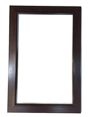 Seven Horses Sunmica Finish Wall-Mounted Framed Mirror Brown(15X21 inch)