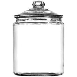 Anchor Hocking Heritage Hill Glass 0.5 Gallon Storage Jar, half gallon