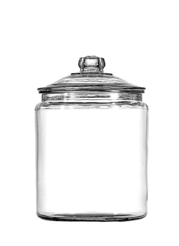Anchor Hocking Glass Heritage Hill Jar with Glass Lid, (Glass Candy Jar)