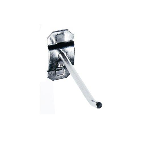 Hook Rod Pegboard Single - Triton Products 61323 Stainless Steel LocHook 3-Inch Single Rod 30-Degree Bend 1/4-Inch Dia, Pegboard Hook for Stainless Steel LocBoard, 3-Pack