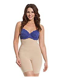 Women's Thigh Shapewear Plus Size Firm Tummy Control High Waist Shaper Slimmer for Women Plus Size Hooks to Bra