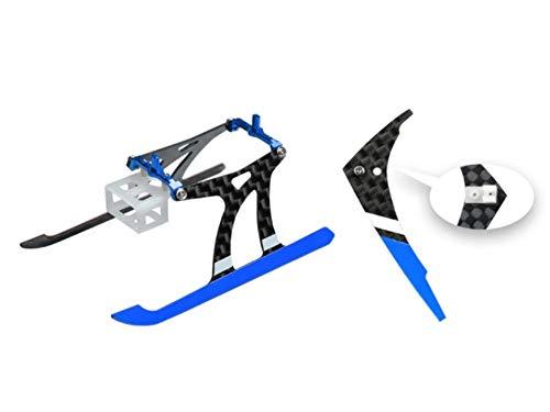 Microheli Aluminum/Carbon Fiber Landing Gear w/Fin (BL) – Blade Nano CPX/S/S2