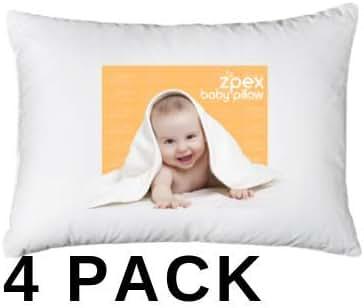 [4-Piece] 2 Pillows & 2 Pillowcases   Baby Toddler Pillows with Pillowcases   13
