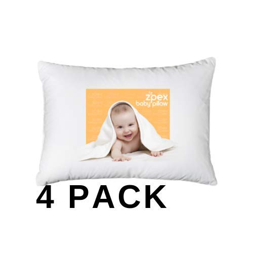 [4-Piece] 2 Pillows & 2 Pillowcases | Baby Toddler Pillows with Pillowcases | 13