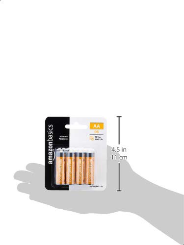 AmazonFundamentals AA 1.5 Volt Performance Alkaline Batteries - Pack of 8