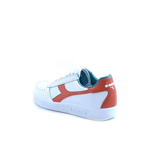 Diadora 501.170595 Sneakers Hombre C6647 BIANCO-ROSSO FIESTA-VERDE CERA