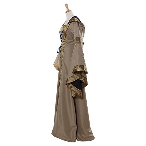 Kostüm Gothic Cosplayitem Mehrfarbig Viktorianischen Mädchen Mittelalterliches Bekleidung Maskerade Damen Halloween Kleid Abendkleid twYrw