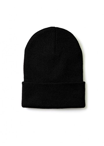 2ND DATE Men's Winter Beanie Knit Hat-Black-Pack of 6