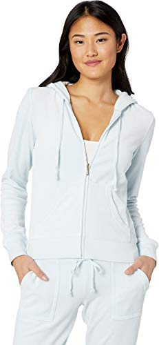 - Juicy Couture Women's Robertson Velour Jacket Crystal Clear X-Large