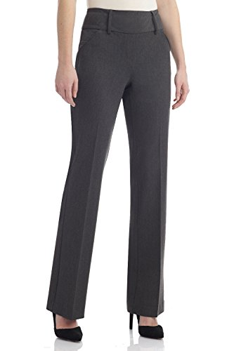 Business Suit Trousers (Rekucci Collection Women's Chic Comfort Pull-On Bootcut Pants (8,Charcoal))