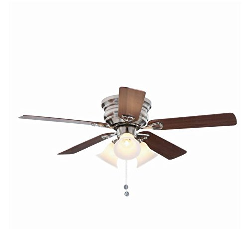 Hampton Bay Brushed Ceiling Fan (Hampton Bay Clarkston 44 In. Brushed Nickel Ceiling Fan with Light Kit)