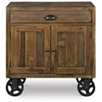 Magnussen B2375-03 River Ridge Wood Door Nightstand with Casters