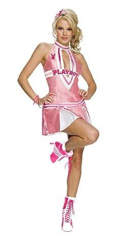 Secret Wishes Women's Playboy Cheerleader Costume, Pink/White, Small ()