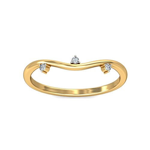 Belle Diamante 18KT Yellow Gold and Diamond Ring Rings at amazon