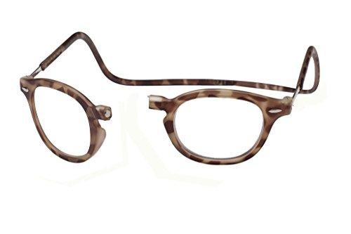 CliC Vintage Magnetic Closure Reading Glasses (1.75 Lens, Matte Light - Glasses Matte Tortoise