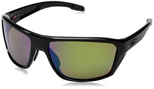 Oakley Men's OO9416 Split Shot Rectangular Sunglasses, Polished Black/Prizm Shallow H2O Polarized, 64 ()