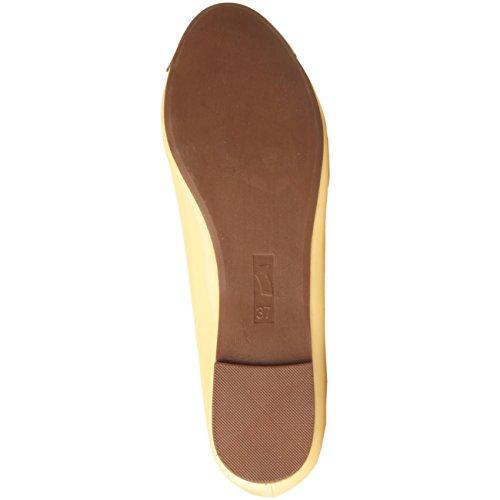 Gas footwear originals chaussures ballerines ballet flats vernis avec pointe en métal jaune