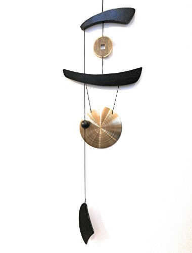 THY COLLECTIBLES Feng Shui Brass Gong Wind Chime for Patio, Garden, Terrace, Balcony Or Any Room - Beautiful Decor Piece