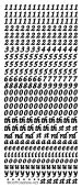 1 x SILVER Italic Numbers and Vowels 6mm (825) Peeloff Stickers Crafting, Models, Cardmaking, Scrapbooking goldlabel
