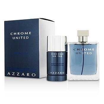 Loris Azzaro Chrome United Coffret: Eau De Toilette Spray 100ml/3.4oz + Deodorant (Loris Azzaro Deodorant Stick)