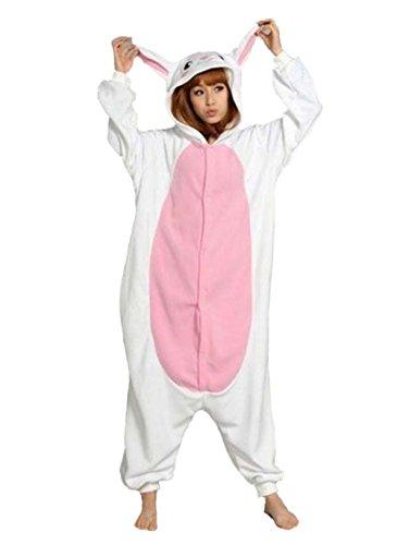 Lifeye Adult Rabbit Pajamas Animal Cosplay Costume -