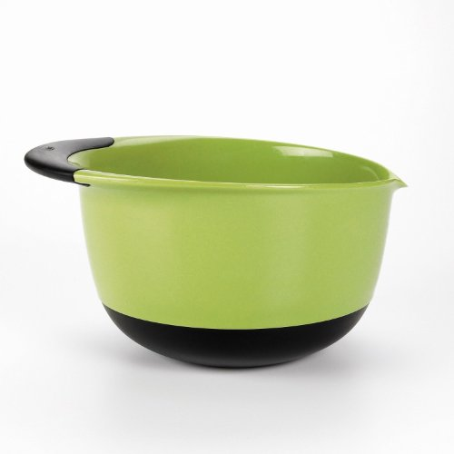 OXO Good Grips 3-piece Mixing Bowl Set, White Bowls with Blue/Green/Brown Handles by OXO (Image #2)