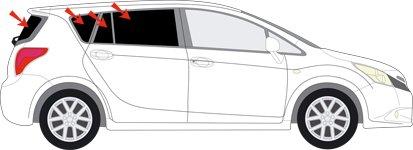 Auto Sonnenschutz fertige passgenaue Scheiben T/önung Sonnenblenden Keine Folien Vorsatzscheiben Toyota Verso Bj 2009-15