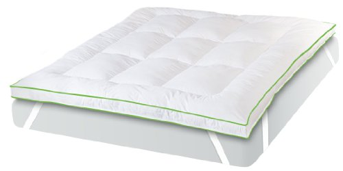BioPEDIC MemoryLOFT Deluxe 3-Inch Memory Foam/Fiber Bed Mattress Topper, King Size, White by NanoTex