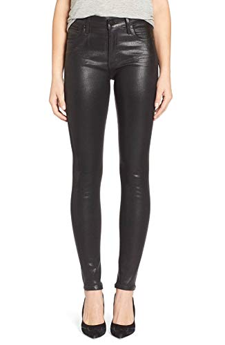 Humanity Citizens Rise High Of (Rocket Leatherette - High Rise Skinny Jeans in Black - Size 30)
