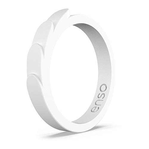 and Safe Lifetime Quality Guarantee Breathable Comfortable Enso Rings Thin Birthstone Silicone Ring Made in The USA