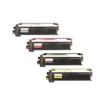 Brother Toner Cartridge Set, 4-Pack, Black, Cyan, Magenta, and Yellow (TN-210)