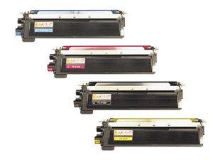 Brother Toner Cartridge Set, 4-Pack, Black, Cyan, Magenta, and Yellow (TN-210) (4k Toner Cyan)