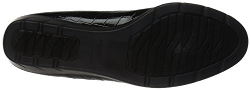 Crocodile Women's Easy Black Flat Patent Street Birdie fT5zqvzYx